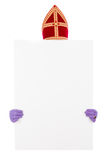 Sinterklaas with card board Stock Image