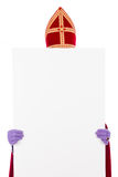 Sinterklaas with cardboard Stock Images