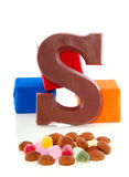 A Sinterklaas chocolate letter Royalty Free Stock Images