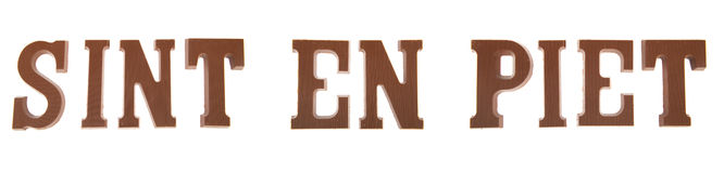 Sinterklaas chocolate letters Royalty Free Stock Photography