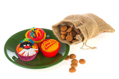 Sinterklaas cup cakes Royalty Free Stock Photography