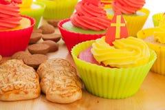 Sinterklaas cupcakes Stock Image