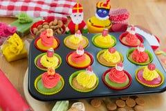 Sinterklaas cupcakes Royalty Free Stock Photos