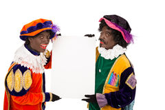 Sinterklaas de piet de Zwarte (Peter noir) Photo stock
