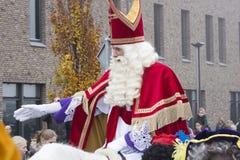 Sinterklaas e Zwarte Piet che arriva Immagini Stock Libere da Diritti