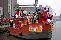 Sinterklaas Eintrag in Holland stockfoto