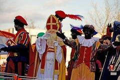 Sinterklaas Eintrag in Holland stockfotografie