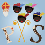 Sinterklaas elements. Elements of the Dutch traditional celebration of Sinterklaas Royalty Free Stock Images