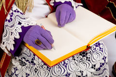 Sinterklaas with empty book Stock Images