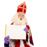 Sinterklaas with empty book Royalty Free Stock Photo