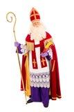 Sinterklaas en el fondo blanco Fotografía de archivo libre de regalías