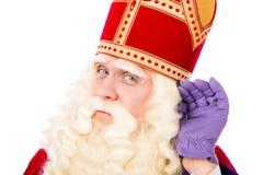 Sinterklaas en el fondo blanco Foto de archivo libre de regalías