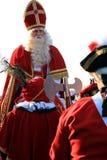 Sinterklaas en gevolg Royalty-vrije Stock Foto's