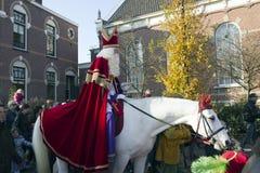 Sinterklaas en los Países Bajos Imagen de archivo libre de regalías