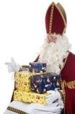 Sinterklaas en stelt voor stock foto
