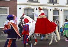 Sinterklaas en Zwarte Piet Stock Foto