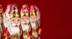 Sinterklaas Estatueta holandesa do chocolate Imagem de Stock