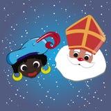 Sinterklaas et piet de zwarte Images libres de droits
