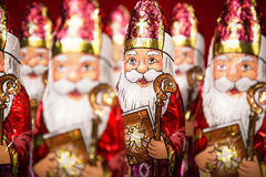 Sinterklaas Figura holandesa del chocolate Foto de archivo