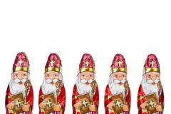 Sinterklaas Figura holandesa del chocolate Foto de archivo libre de regalías