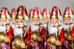Sinterklaas Figurine néerlandaise de chocolat Image stock