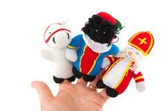 Sinterklaas finger puppets Stock Images