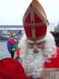 Sinterklaas greating children in harbour of Enschede Stock Photo