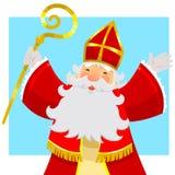 Sinterklaas heureux Image libre de droits