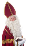 Sinterklaas and his book Royalty Free Stock Photos