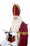 Sinterklaas and his book Stock Images
