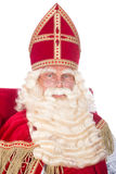 Sinterklaas on his chair Royalty Free Stock Photo