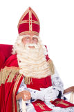 Sinterklaas on his chair Royalty Free Stock Photography