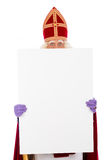 Sinterklaas holding placard Stock Photography