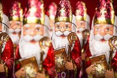 Sinterklaas Holenderska czekoladowa postać Zdjęcie Stock