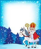 Sinterklaas on horse theme image 4 Stock Images