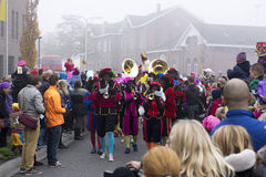 Sinterklaas i Zwarte Piet przyjeżdżać Fotografia Royalty Free