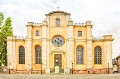 Sinterklaas-kerk, de stan, Oude stad van Galma van Stockholm, Zweden Royalty-vrije Stock Foto