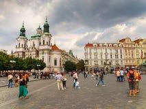 Sinterklaas-kerk in het Oude Stadsvierkant in Praag, Tsjechische Republiek royalty-vrije stock fotografie