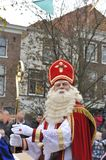 Sinterklaas looking at the crowd Royalty Free Stock Photo
