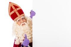 Sinterklaas med whiteboard Royaltyfri Fotografi