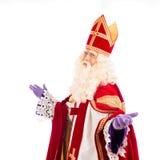 Sinterklaas no fundo branco Fotografia de Stock Royalty Free