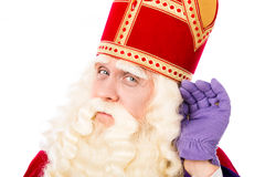 Sinterklaas no fundo branco Foto de Stock Royalty Free