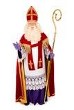 Sinterklaas no fundo branco Comprimento completo Fotos de Stock