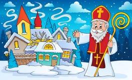 Sinterklaas-onderwerpbeeld 3 vector illustratie