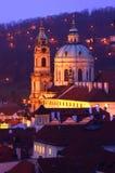 Sinterklaas in Praag in Dawn Stock Foto's