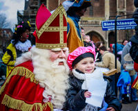 Sinterklaas, Saint Nicolas Posing for photos Royalty Free Stock Photos