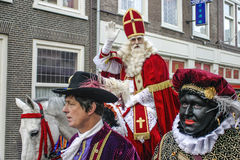 Sinterklaas, Saint Nicolas Posing for photos royalty free stock photography