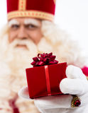 Sinterklaas showing gift Stock Image