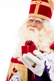 Sinterklaas showing gift Stock Photo