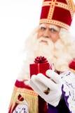 Sinterklaas showing gift Stock Photo